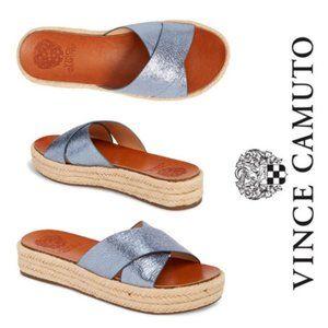 Vince Camuto Blue Carran Platform Slide Sandal 9.5
